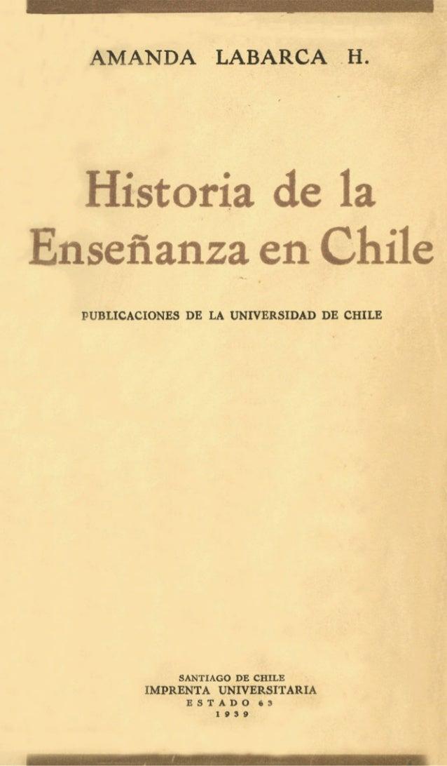 Amanda Labarca - Historia de la enseñanza en Chile