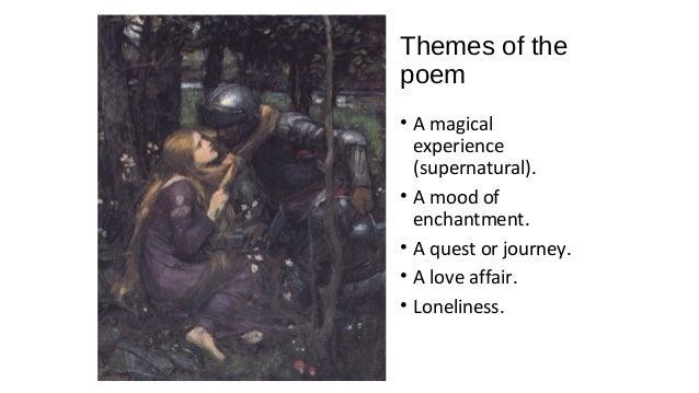 la belle dam sans merci essay Romantic literature, poetry - la belle dame sans merci by john keats | 1005077.