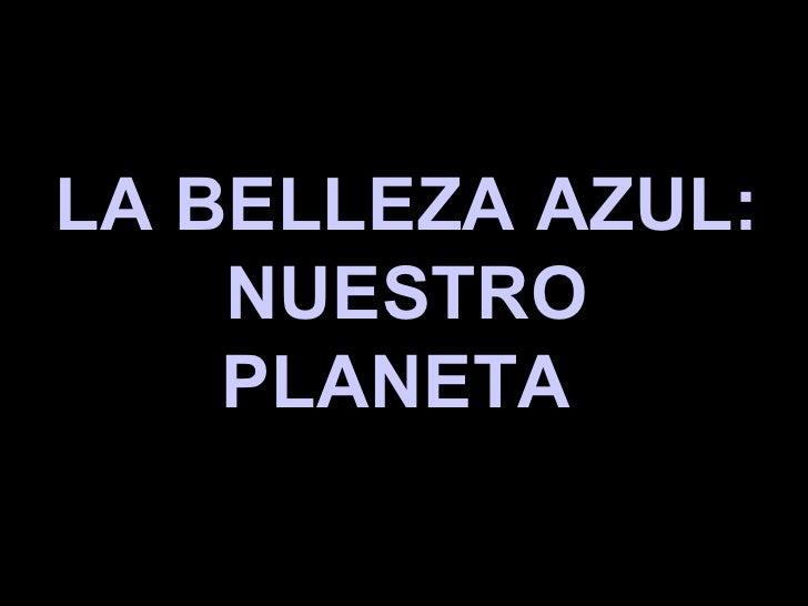 LA BELLEZA AZUL: NUESTRO PLANETA