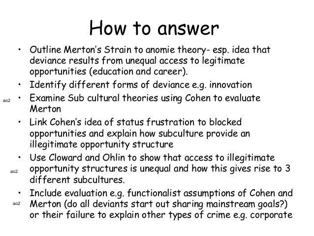 an essay on merton and the strain theory References linked references are available on jstor for this article:   here persists a notable tendency in sociological theory to attribute  it is clear  that the result is a strain toward innovational practices the.