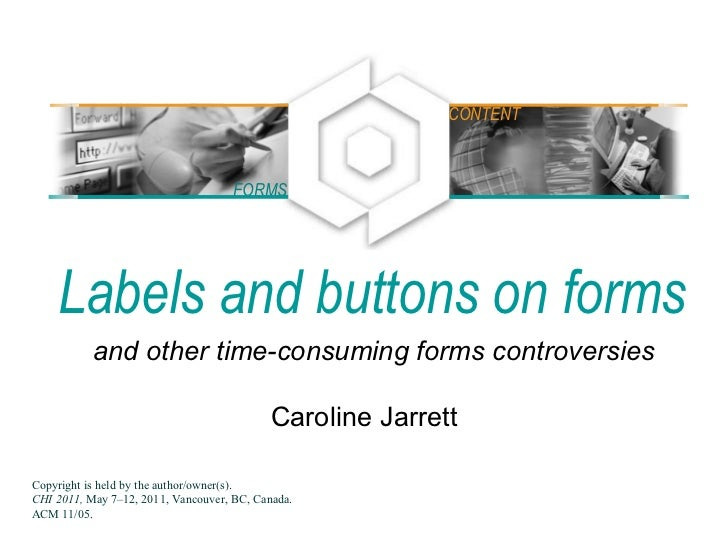 Labels and buttons on forms