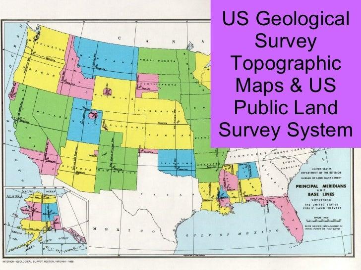 US Geological Survey Topographic Maps & US Public Land Survey System