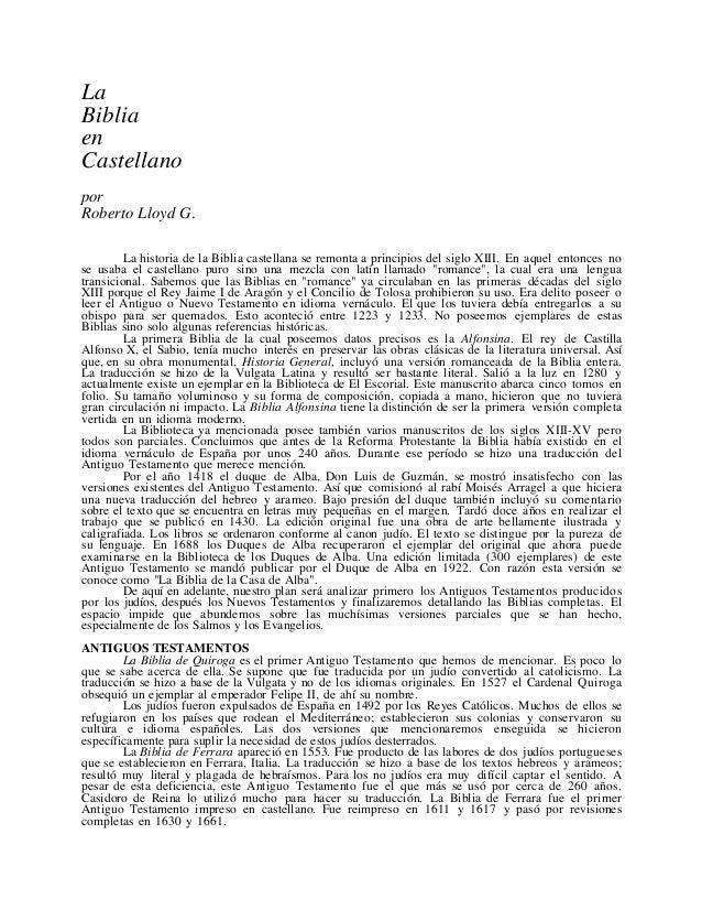 La biblia en castellano