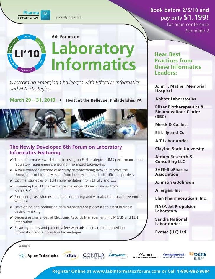 Laboratory Informatics 2010
