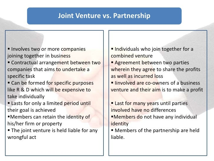 joint venture must be a partnership between the land owner and the developer