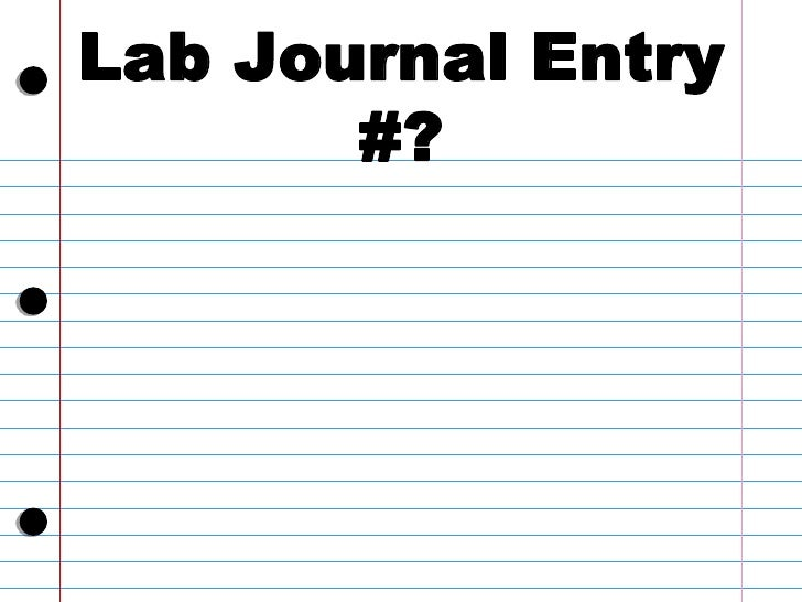 how to write a lab journal