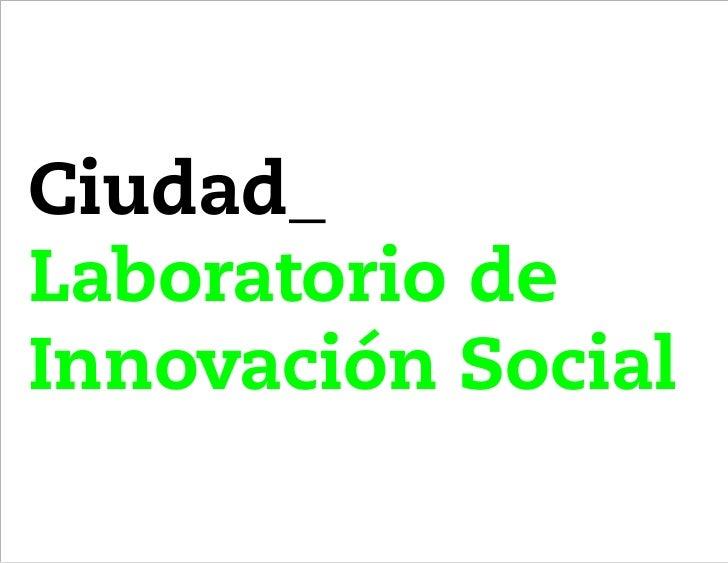 Ciudad_Laboratorio deInnovación Social