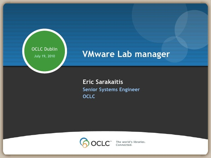 COVMUG Lab Manager Slide Deck