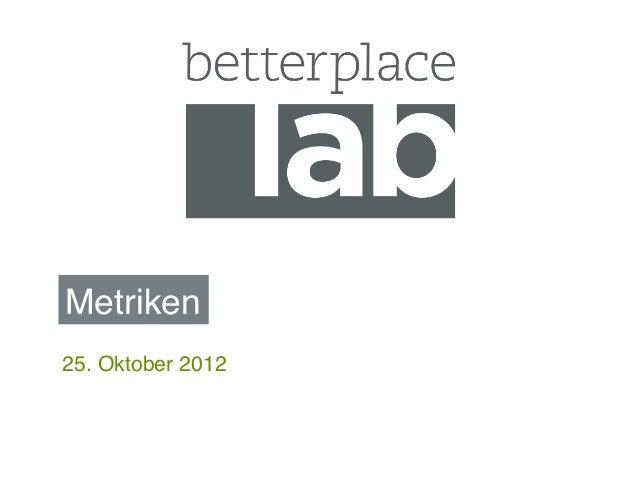 Labmetrics Oktober 2012