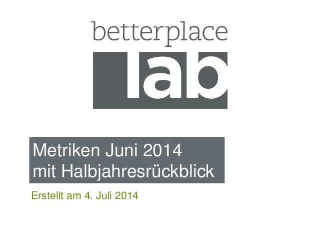 Metriken Juni 2014 mit Halbjahresrückblick Erstellt am 4. Juli 2014