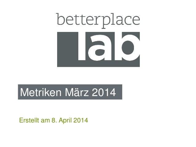 Metriken März 2014 Erstellt am 8. April 2014