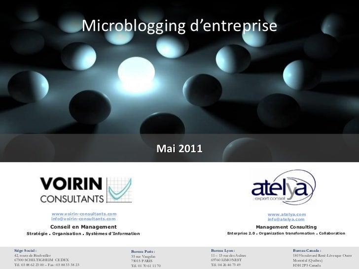 Microblogging d'entreprise                                                                         Mai 2011               ...