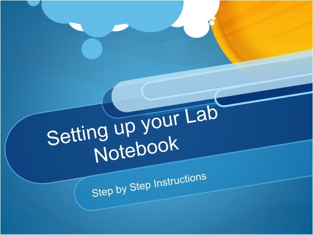Lab notebook set up fritts