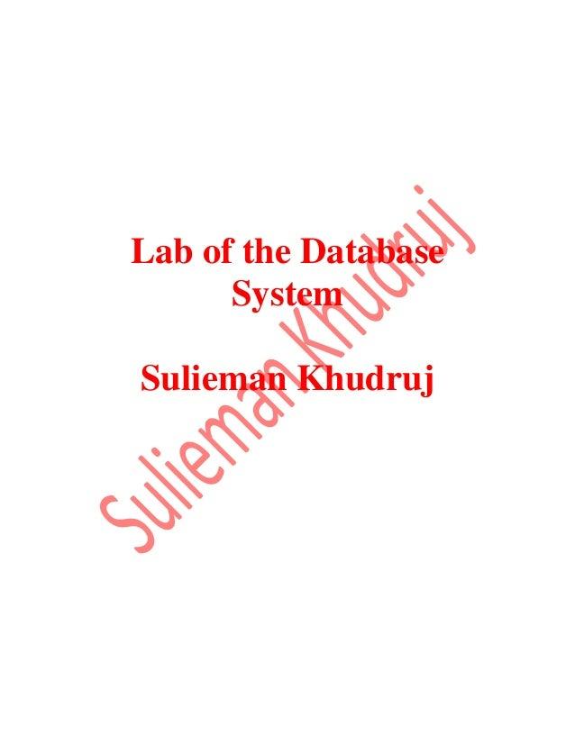 Oracle (SQL), Sulieman Khudruj