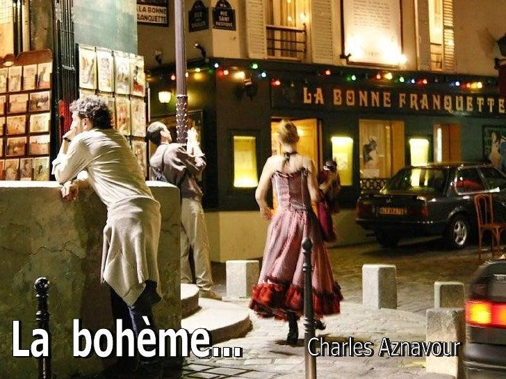 Charles Aznavour  La  bohème...