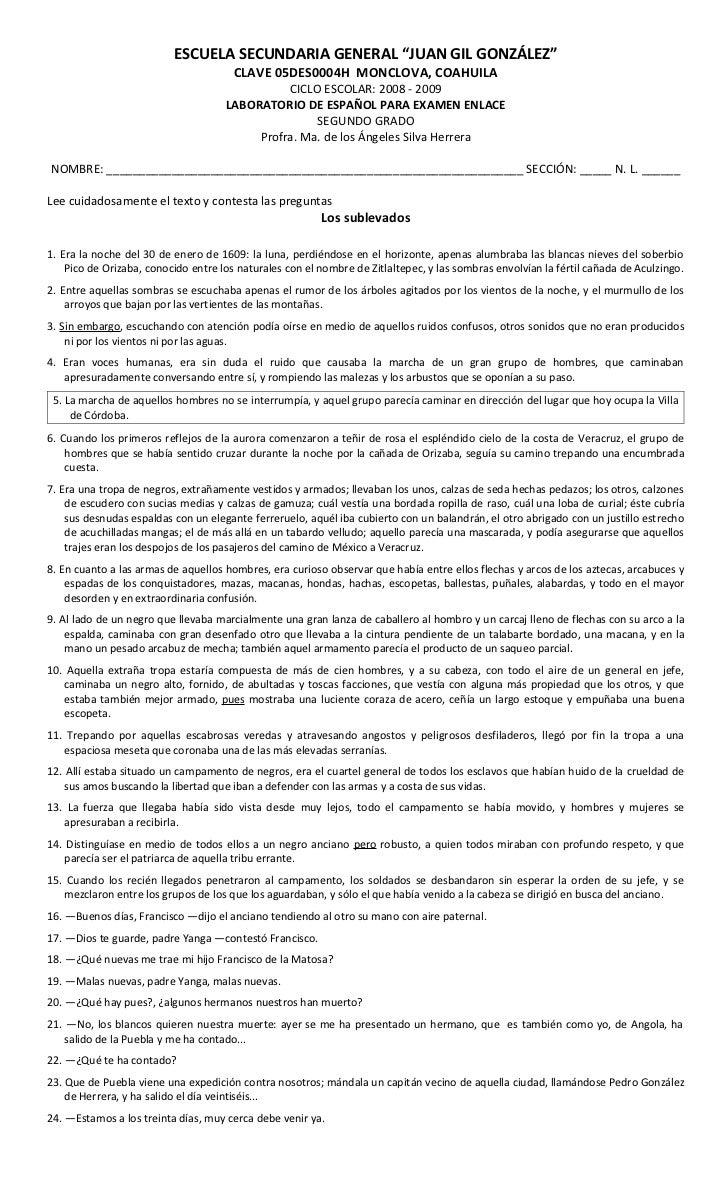 Cuadernillo de Ejercicios para Español. 2o Grado