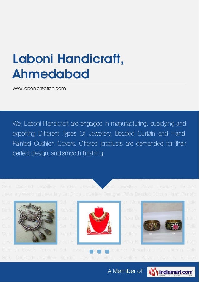A Member ofLaboni Handicraft,Ahmedabadwww.labonicreation.comOxidized Jewellery Kundan Jewellery Metal Jewellery Patwa Jewe...