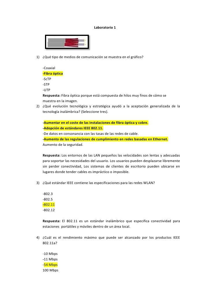 Laboratorio 11) ¿Qué tipo de medios de comunicación se muestra en el gráfico?   -Coaxial   -Fibra óptica   -ScTP   -STP   ...