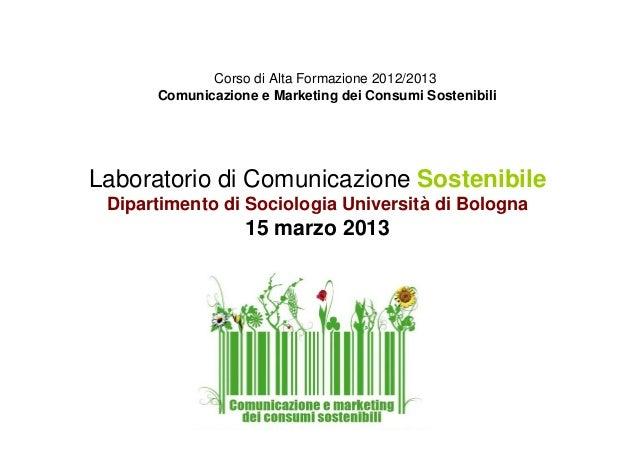 Laboratorio comunicazione sostenibile_unibo2013