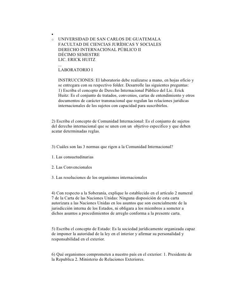 • o   UNIVERSIDAD DE SAN CARLOS DE GUATEMALA     FACULTAD DE CIENCIAS JURÍDICAS Y SOCIALES     DERECHO INTERNACIONAL PÚBLI...
