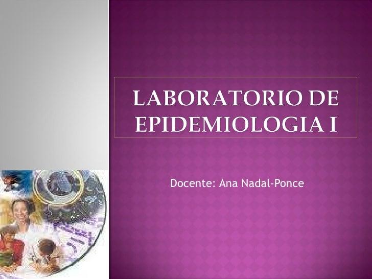 Laboratorio de epidemiologia i
