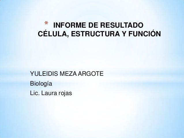 Laboratorio de las celulas