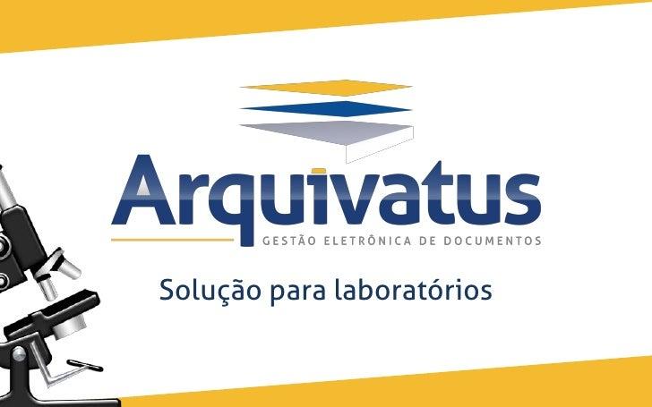 Solução para laboratórios