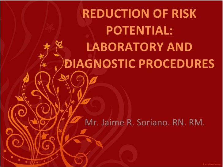 Laboratory and diagnostic procedures part1