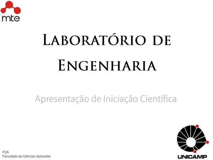 FCAFaculdade de Ciências Aplicadas