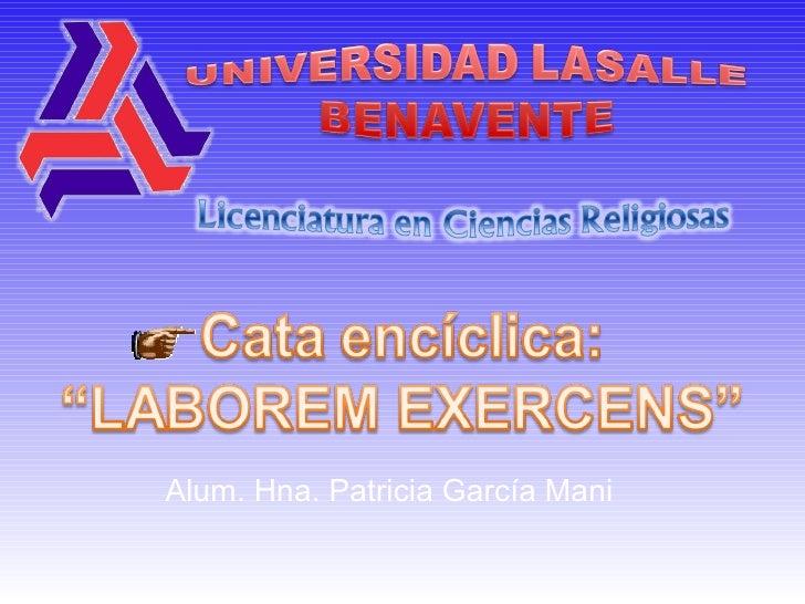 Alum. Hna. Patricia García Mani
