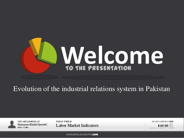 homihere.blogspot.com YOU ARE LOOKING AT Humayun Khalid Qureshi MBA 1.5 (HR) TODAY TOPIS IS Labor Market Indicators WE ARE...
