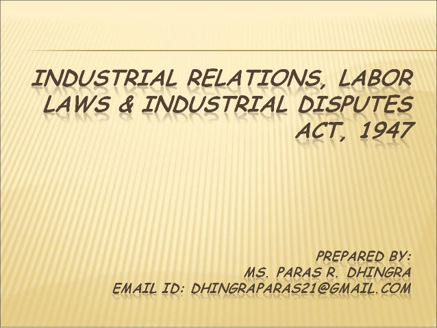 industrial relation labour law International journal of humanities and social science vol 4, no 11(1) september 2014 29 emerging trends in labour law and industrial relations in nigeria.