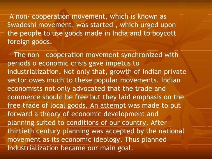 Essay on non cooperation movement
