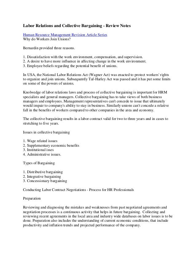 hockey collective bargaining agreement essay