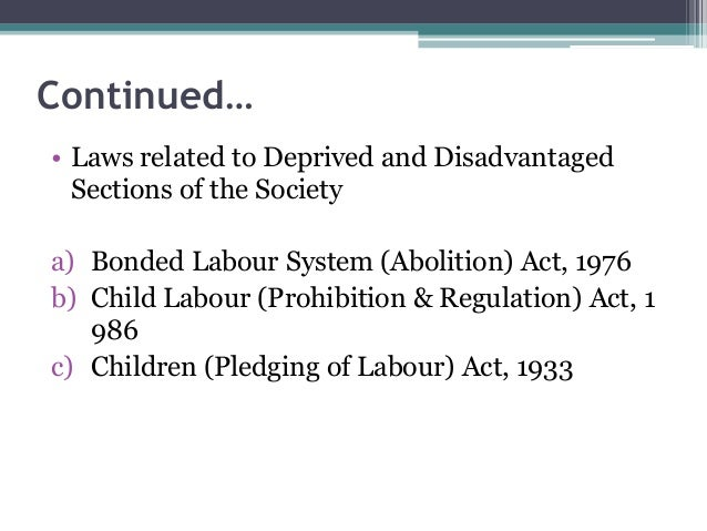 Child Labour Acts And Laws Act 1976 b Child Labour