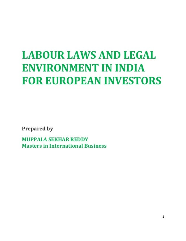 Labour laws and legal environment in india for european union