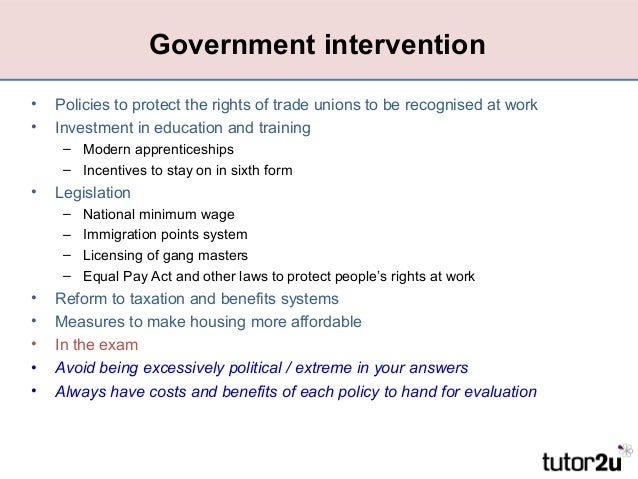 market failure and government intervention Government failure vs market failure: microeconomics policy research and government a government failure should call a government intervention into.