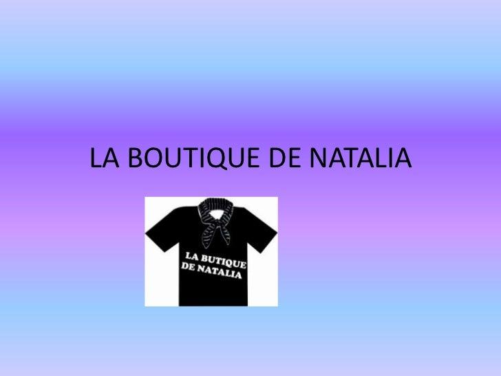 LA BOUTIQUE DE NATALIA