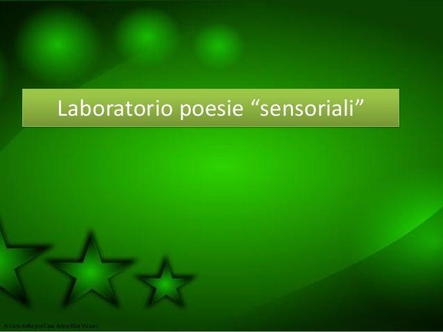 Lab poesie sensoriali