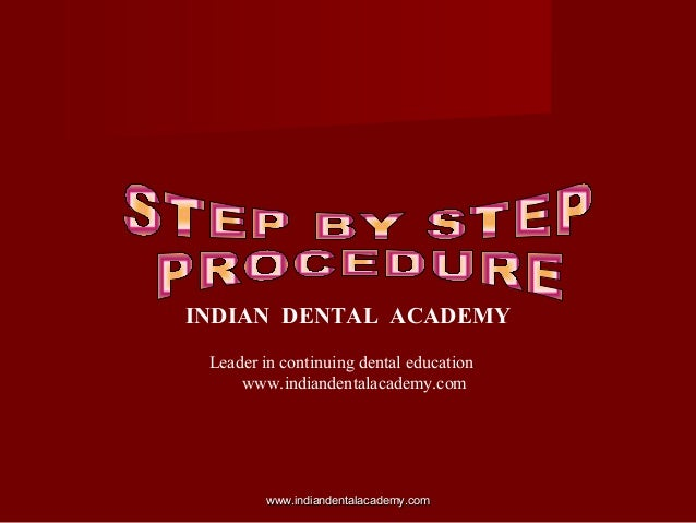 Lab procedures / dental education in india