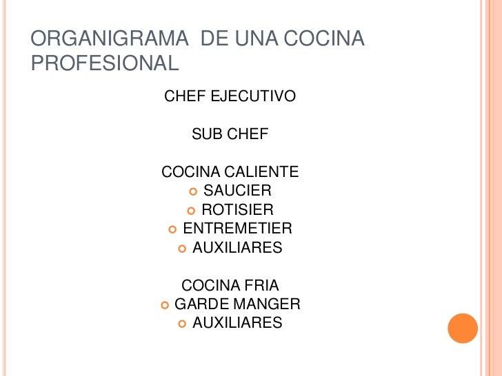 La brigada de cocina for Plano de una cocina profesional
