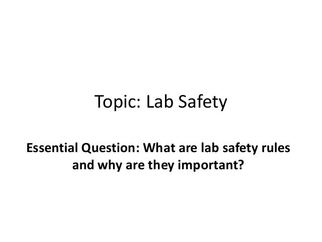 Lab safety presentation