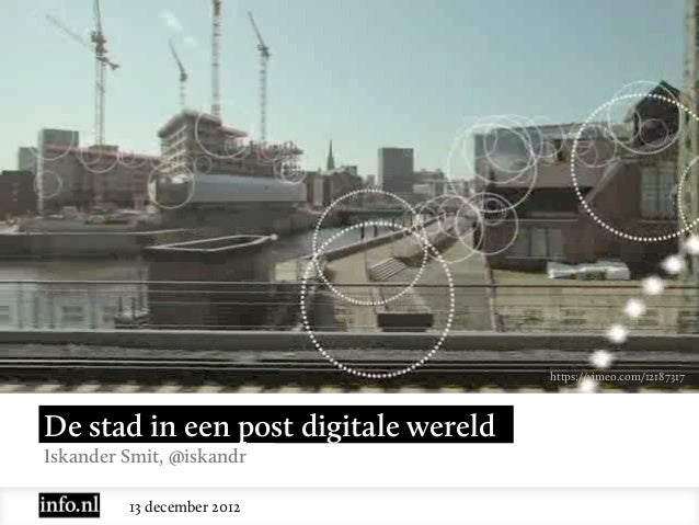 De Stad in een Post Digitale Wereld