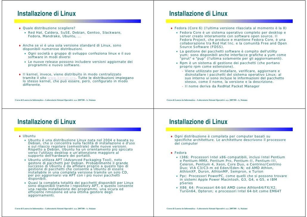 Installazione di Linux                                                                      Installazione di Linux     ♦ Q...