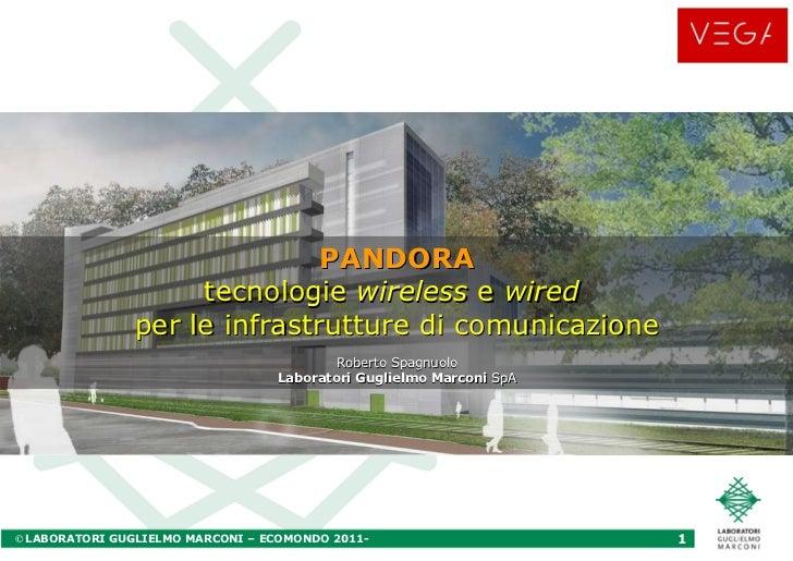 PANDORA tecnologie  wireless  e  wired   per le infrastrutture di comunicazione Roberto Spagnuolo Laboratori Guglielmo Mar...