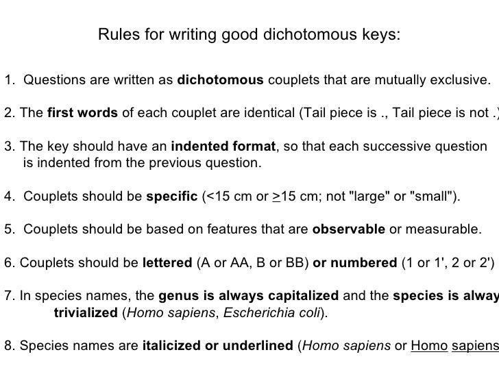 The Dichotomous Key: A Classifying Tool - Study.com