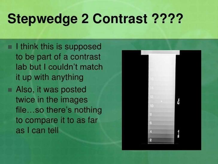 kvp and contrast relationship test