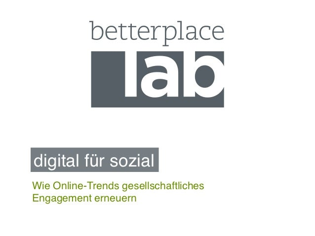 digital für sozial!Wie Online-Trends gesellschaftlichesEngagement erneuern!