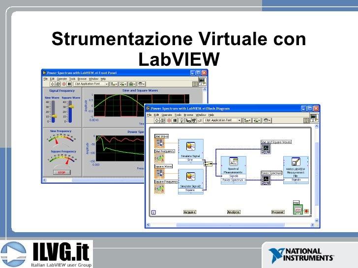 Strumentazione Virtuale con         LabVIEW