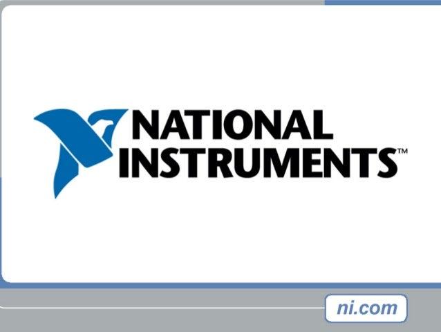 Architecture de programmation et communication dans LabVIEW™ Real-Time Alexandre Stanurski National Instruments France